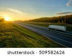 Asphalt Highway With A Ride...