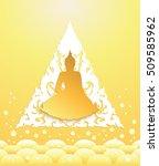 buddha thai tradition paper cut ... | Shutterstock .eps vector #509585962