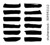 set of black ink vector stains. ... | Shutterstock .eps vector #509592112
