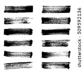 set of black ink vector stains. ... | Shutterstock .eps vector #509592136