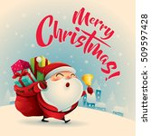 merry christmas  vintage... | Shutterstock .eps vector #509597428