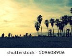 silhouettes of people playing...   Shutterstock . vector #509608906