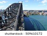 aerial view of sydney harbour... | Shutterstock . vector #509610172