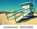 santa monica beach  sunset....   Shutterstock . vector #509616082