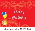happy birthday floral pattern | Shutterstock .eps vector #50962960