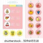 icon set fruit vector | Shutterstock .eps vector #509645518