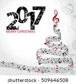 christmas card. musical... | Shutterstock .eps vector #509646508