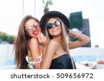 close up portrait of two... | Shutterstock . vector #509656972
