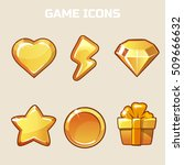 action gold game icons set ...
