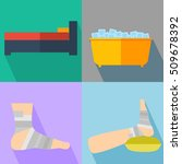 rest  ice  compression  and... | Shutterstock .eps vector #509678392