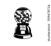 gumball machine. black and... | Shutterstock .eps vector #509678716