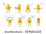 set of chicken characters... | Shutterstock .eps vector #509681035