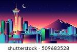 seattle skyline | Shutterstock .eps vector #509683528
