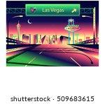 las vegas skyline | Shutterstock .eps vector #509683615