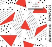 postmodern triangle pattern.... | Shutterstock .eps vector #509692906