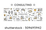 line concept for consulting.... | Shutterstock .eps vector #509695942