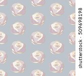 seamless pattern of roses with... | Shutterstock .eps vector #509698198