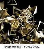 abstract 3d rendering of gold.... | Shutterstock . vector #509699932