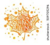 hand drawn thanksgiving... | Shutterstock .eps vector #509705296