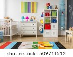 colorful and pretty child room...