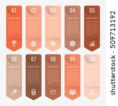infographic template orange 10... | Shutterstock .eps vector #509713192