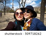 mother and adult daughter are... | Shutterstock . vector #509718262
