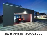 entrance to a garage with the... | Shutterstock . vector #509725366
