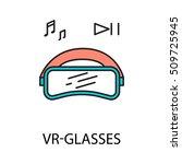 vr   glasses line icon. vector...