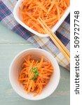 carrot salad | Shutterstock . vector #509727748
