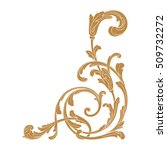 gold vintage baroque element... | Shutterstock .eps vector #509732272