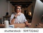 office worker. fashion model... | Shutterstock . vector #509732662