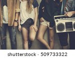 teenagers lifestyle casual... | Shutterstock . vector #509733322
