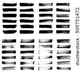 set of black ink vector stains. ... | Shutterstock .eps vector #509751472