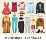 women's clothing collection.... | Shutterstock .eps vector #509753155