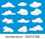 set of vector clouds | Shutterstock .eps vector #50975788
