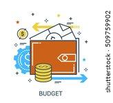 infographic flat design concept ... | Shutterstock .eps vector #509759902
