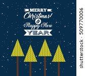 happy merry christmas card... | Shutterstock .eps vector #509770006