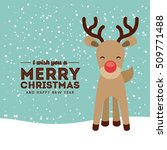 happy merry christmas card... | Shutterstock .eps vector #509771488