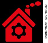 plant building icon. glyph... | Shutterstock . vector #509781082