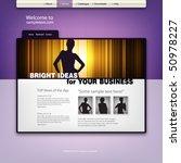 website design template. vector. | Shutterstock .eps vector #50978227