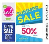 modern sale banner set ... | Shutterstock .eps vector #509785915