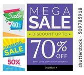 modern sale banner set ... | Shutterstock .eps vector #509785918