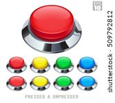 arcade push buttons with chrome ... | Shutterstock .eps vector #509792812