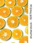 nice oranges slice in many... | Shutterstock . vector #509794516