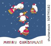 merry christmas card with... | Shutterstock .eps vector #509795182