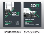 green color scheme with city... | Shutterstock .eps vector #509796592