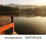morning lake and pier | Shutterstock . vector #509799145