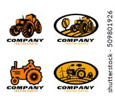 Black And Orange Tractor Logo...