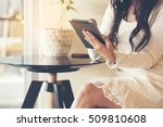 beautiful young wedding planer...   Shutterstock . vector #509810608