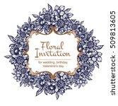 vintage delicate invitation... | Shutterstock .eps vector #509813605